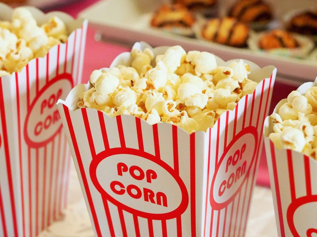 cinema bambini popcorn